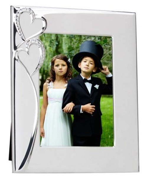 Portafoto cuore argentato argento silver plated