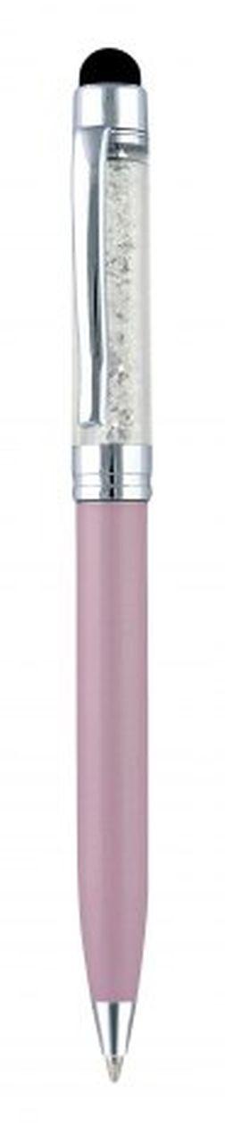 Penna touch in metallo rosa perlata