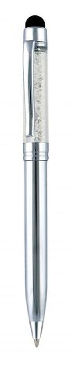 Penna touch metallo cromata cm.13x1x1h