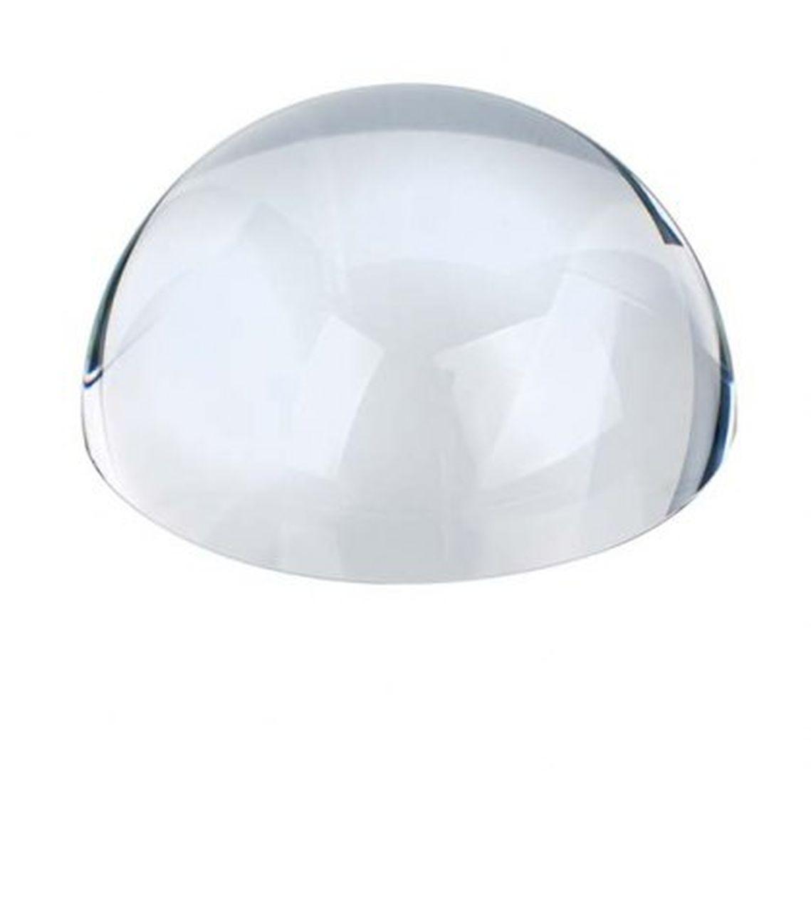 Fermacarte lente mezza sfera in vetro trasparente cm.3,5h diam.7