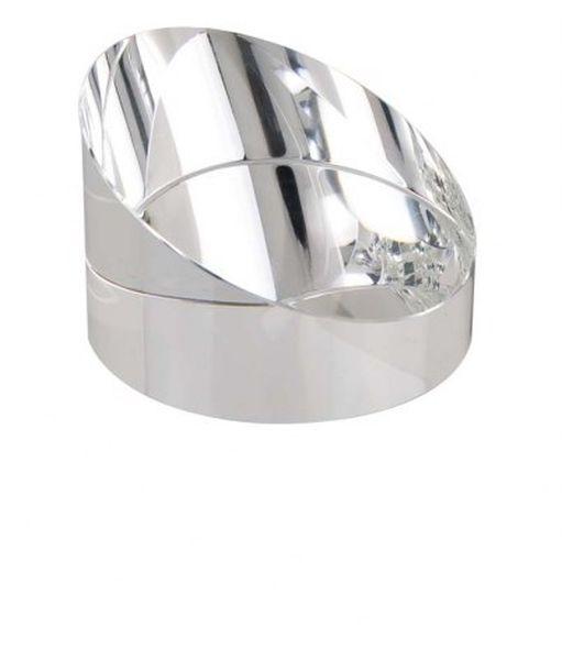 Fermacarte cristallo bianco cm.5,5h diam.8