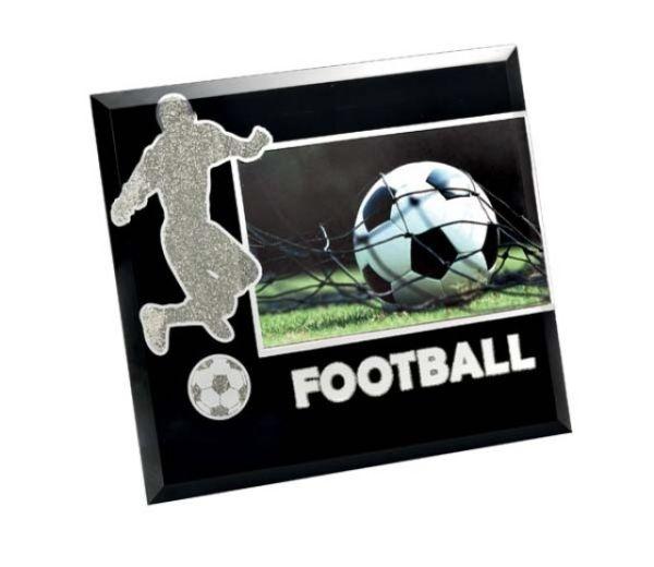 Portafoto glass football cm.18x13x1h