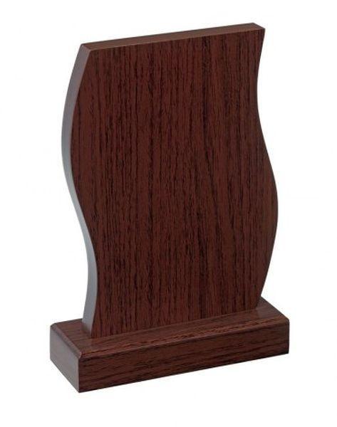 Trofeo pergamena legno noce cm.10x5x16h