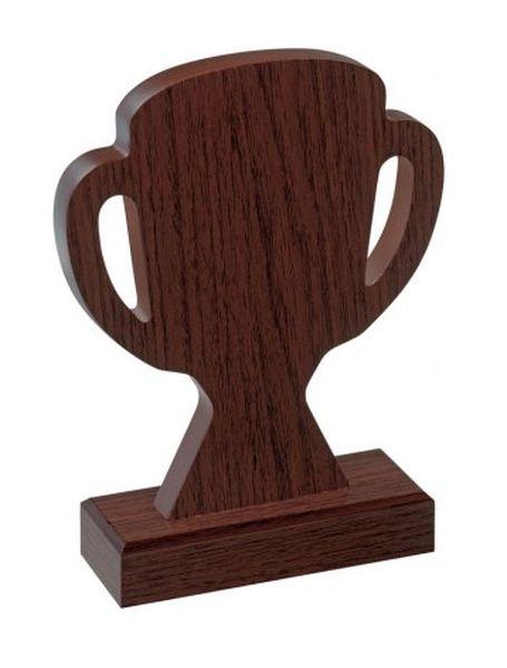 Trofeo master cup legno noce cm.12,7x5x18h