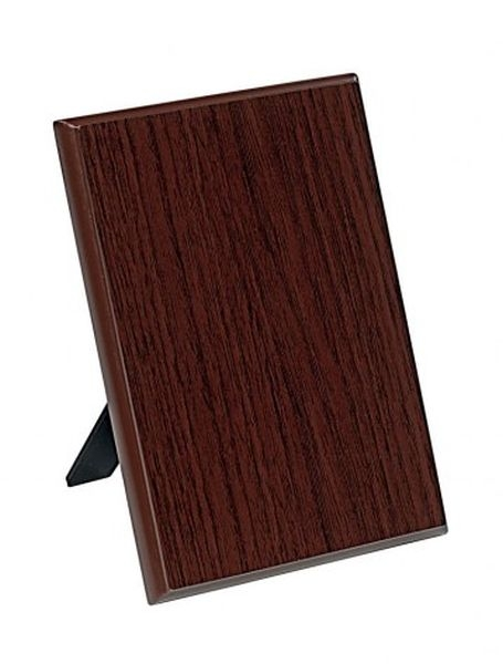 Crest targa legno noce cm.9x1,5x12,5h