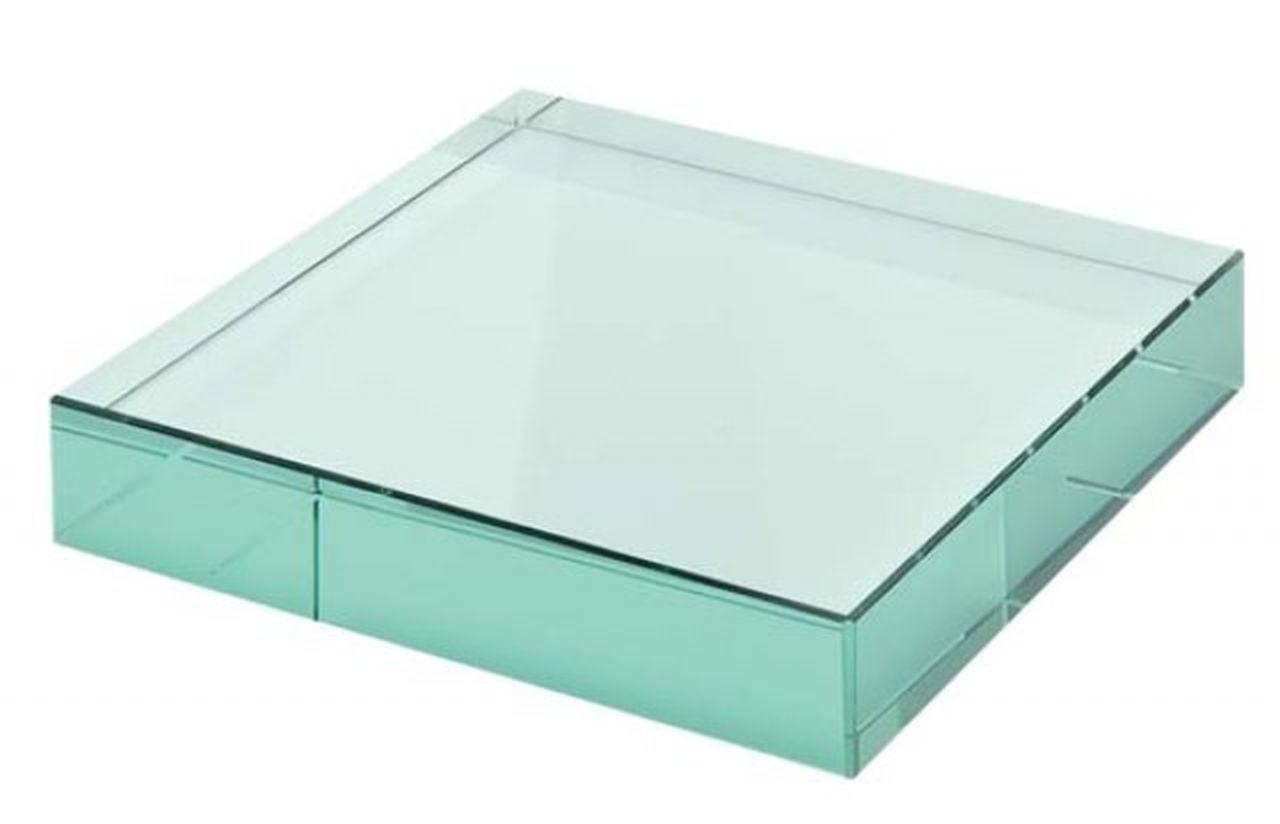 Fermacarte in vetro verde