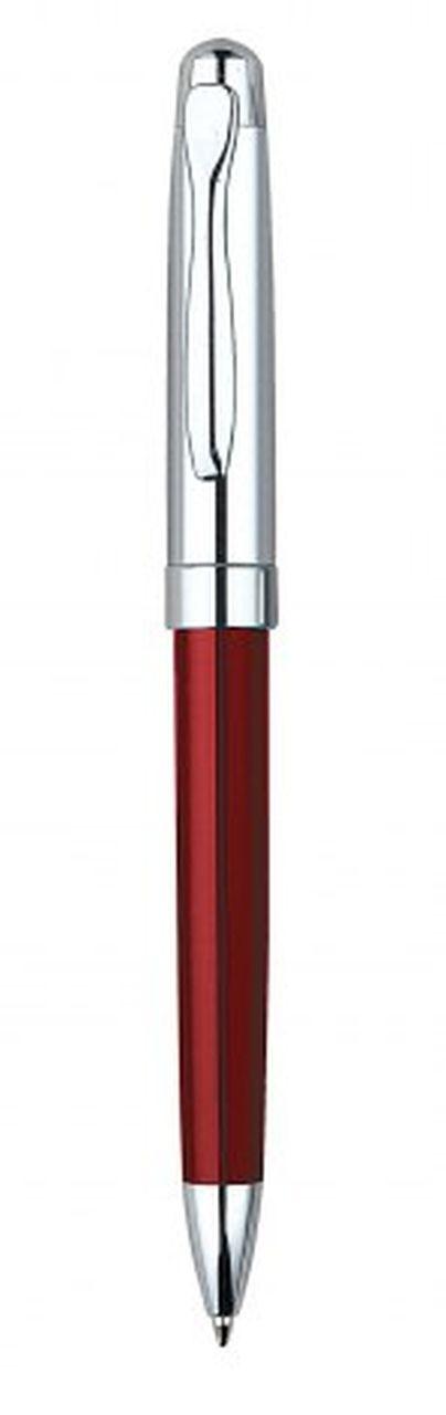 Penna in metallo rossa cromata lucida