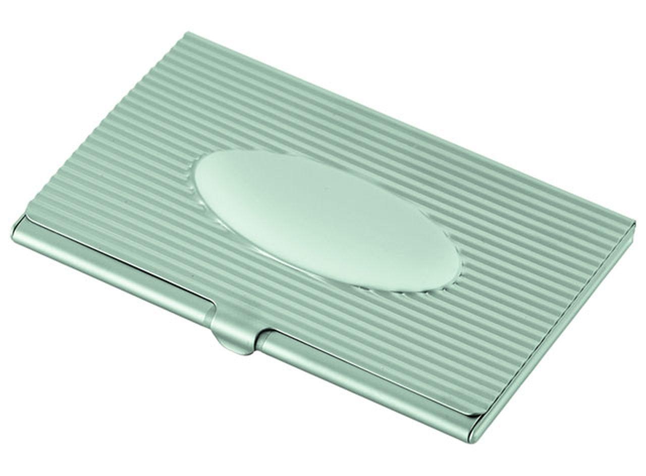 Portabiglietti 'oval' satinato cm.6x9,7x1h