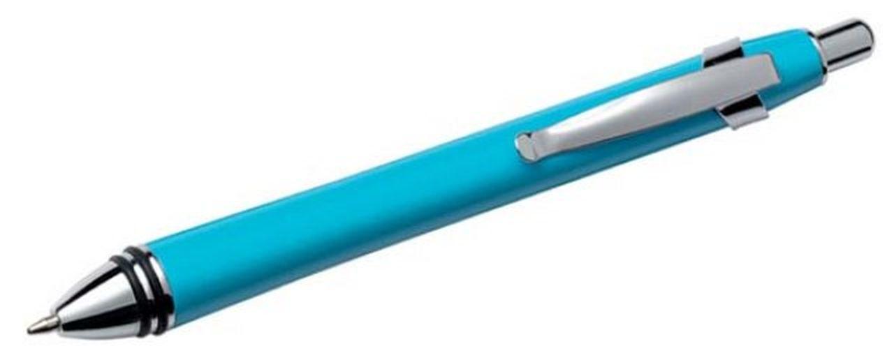 Penna metallo color azzurro