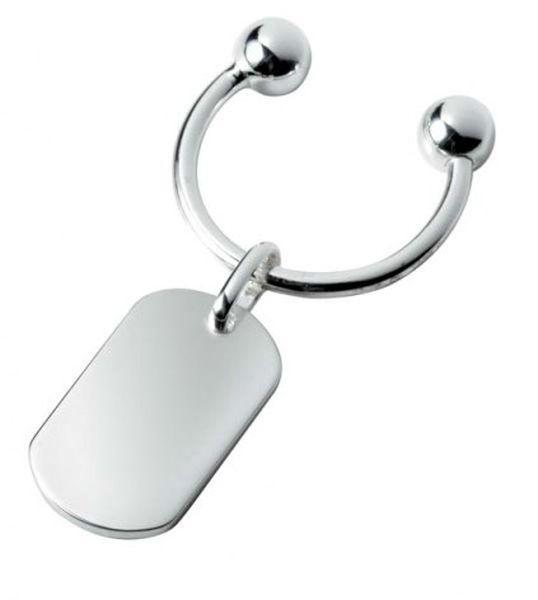 Portachiavi in argento 925 ranuncolo cm.6,5x3,2x0,5h