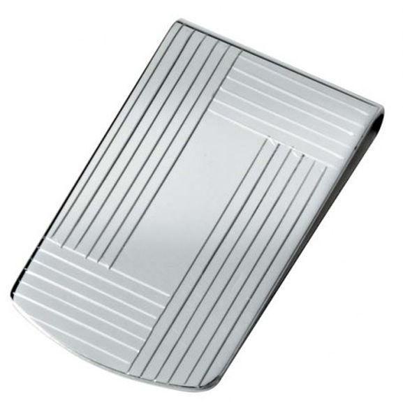 Fermasoldi in argento 925 cm.4,5x2,6x0,5h