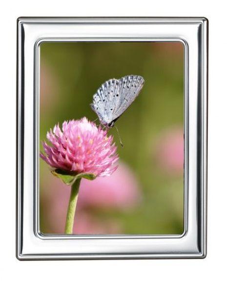 Portafoto in argento olivia cm.13x1x18h