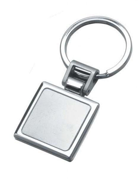Portachiavi square cromato cm.7,7x3,4x1h