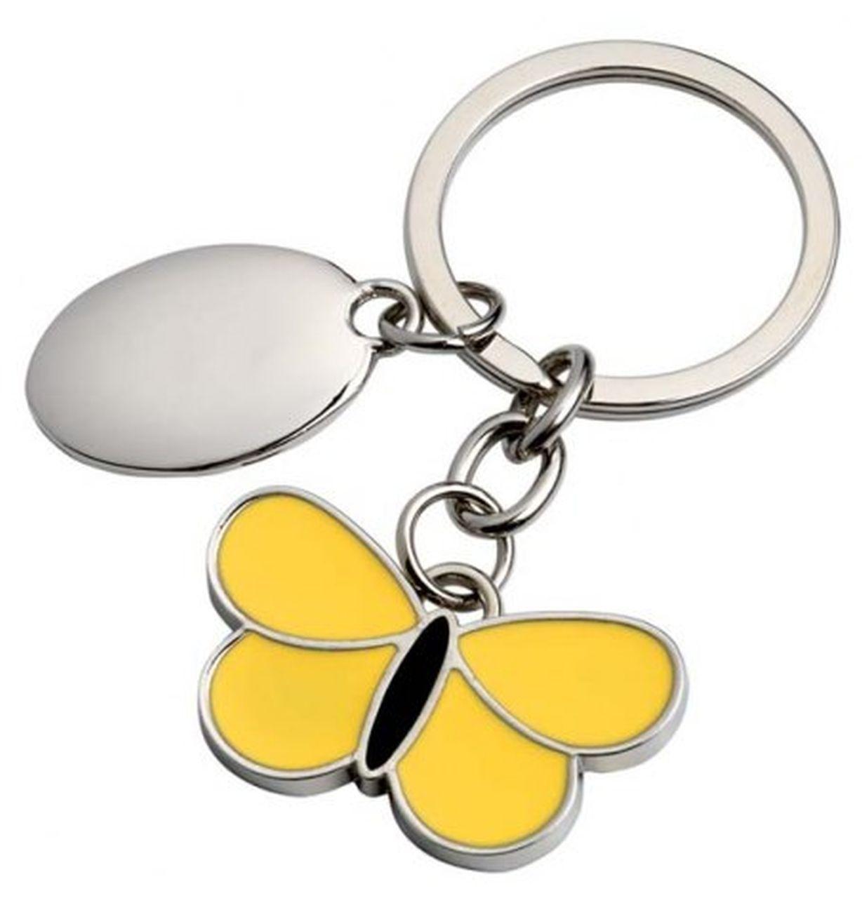 Portachiavi farfalla gialla nera