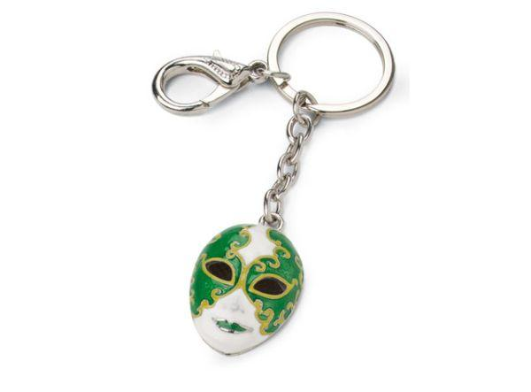 Portachiavi carnevale maschera verde