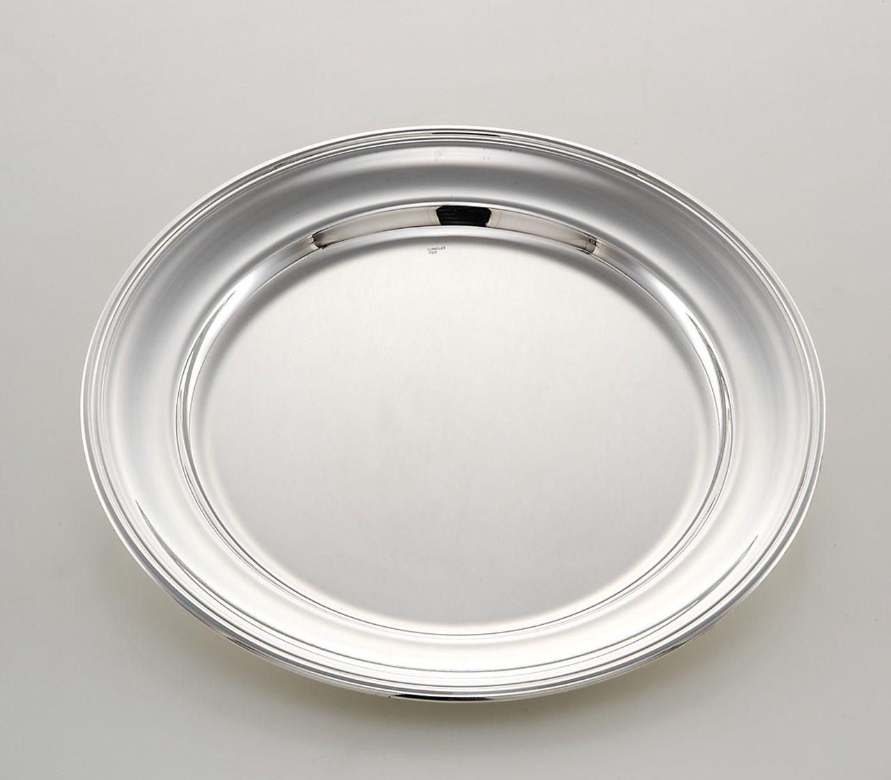 Piatto tondo portata stile Inglese argentato argento sheffield cm.diam.30