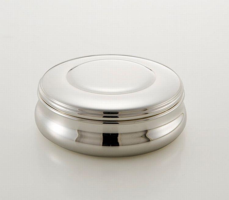 Scatola tonda stile Cardinale argentato argento sheffield cm.5,5h diam.16