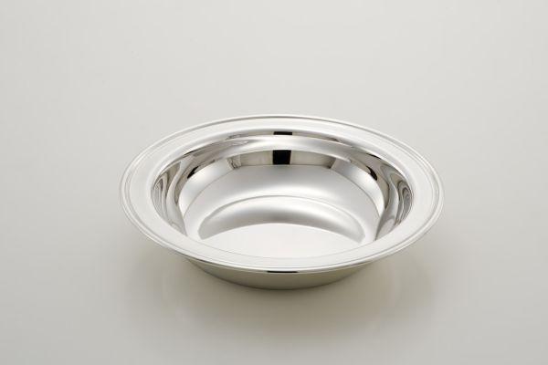 Cestino tondo stile inglese argentato argento sheffield cm.3,5h diam.18