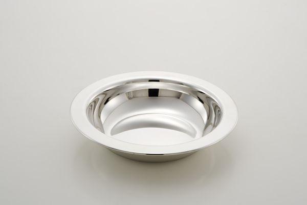 Cestino tondo stile Cardinale argentato argento sheffield cm.3,5h diam.18