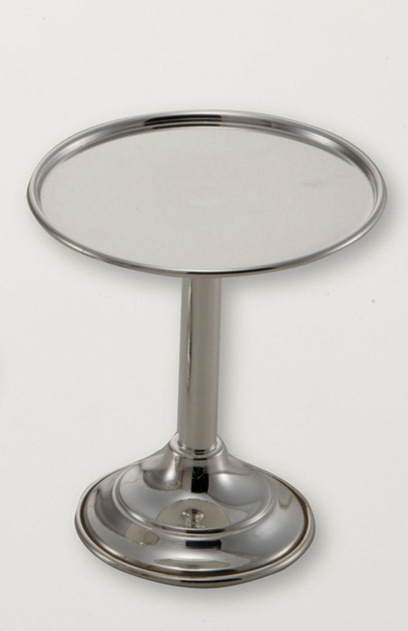 Alzatina tonda per dolci argentata argento silver plated cm.12h diam.10,5
