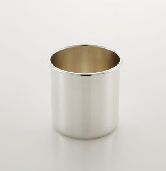 Portapenne liscio stile Cardinale argentato argento sheffield cm.9,5x diam.9,7