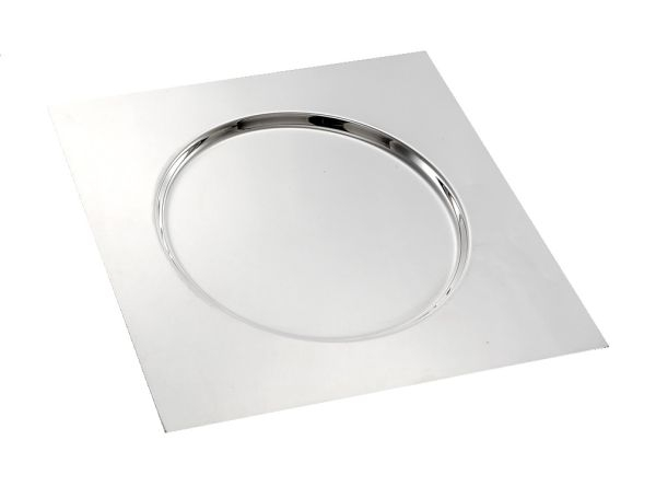 Sottopiatto quadro stile Cardinale argentato argento sheffield cm.30x30