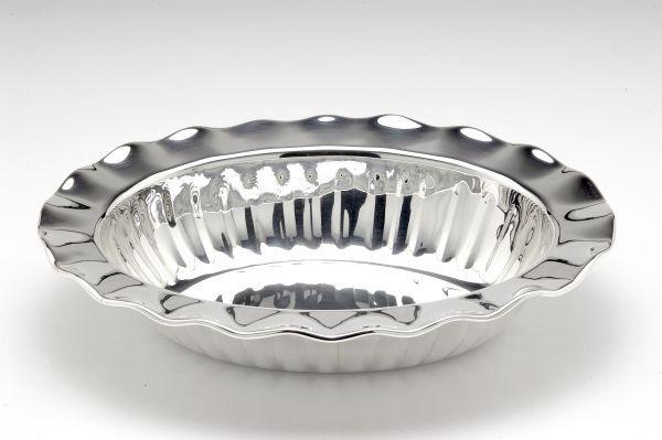 Ciotola ovale stile Barocco argentato argento sheffield
