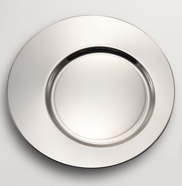 Sottopiatto argentato argento cm.diam.32,5