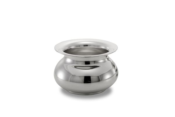 Cachepot liscio argentato argento stile Cardinale cm.13h diam.19