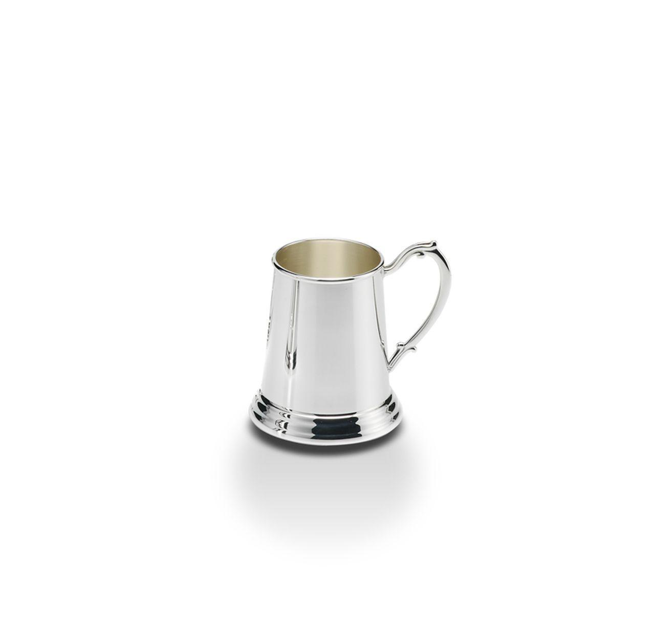 Boccale stile inglese argentato argento sheffield cm.11h diam.7,5
