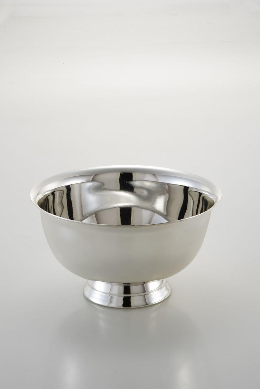 Alzata tonda liscia per dolci argentata argento silver plated