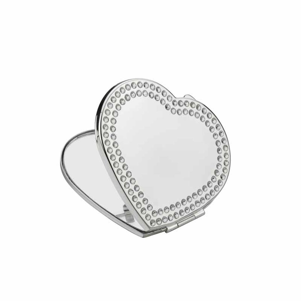Specchietto cuore silver plated
