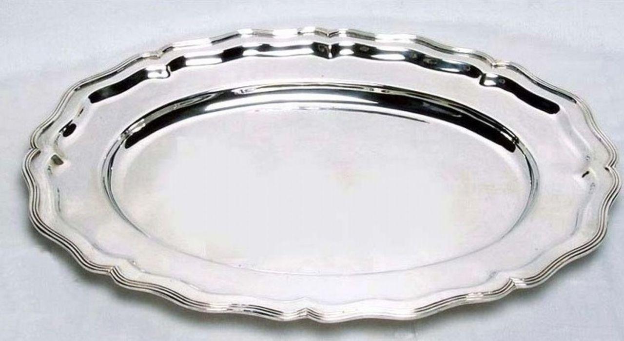 Vassoio ovale stile 700 argentato argento sheffield