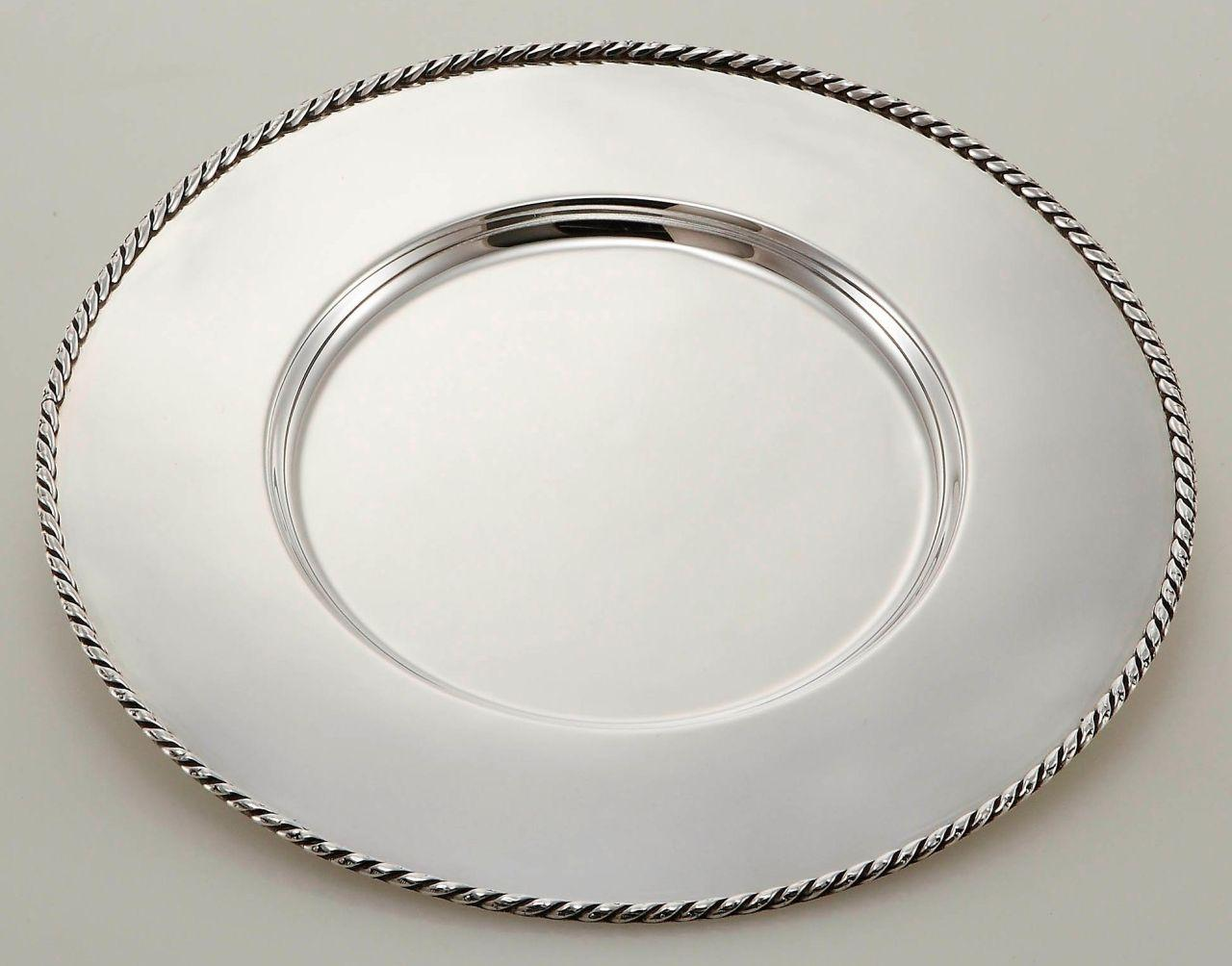 Sottopiatto argentato argento sheffield stile Corda