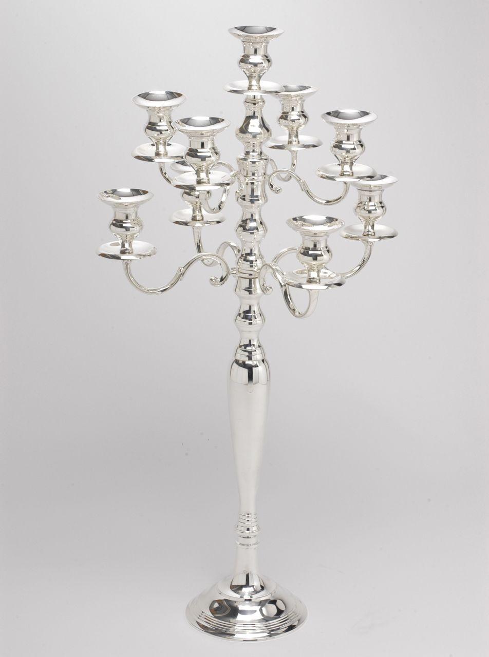 Candelabro 9 fiamme stile Inglese argentato argento sheffield
