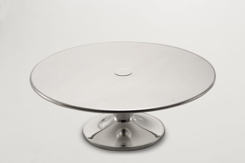 Alzata torta stile Cardinale argentato argento sheffield cm.30h diam.29