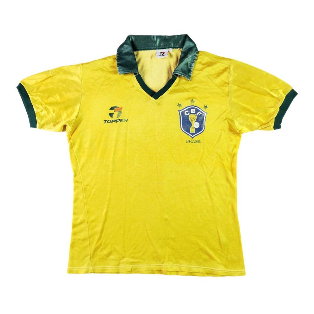 1985-88 Brasile MAGLIA HOME M