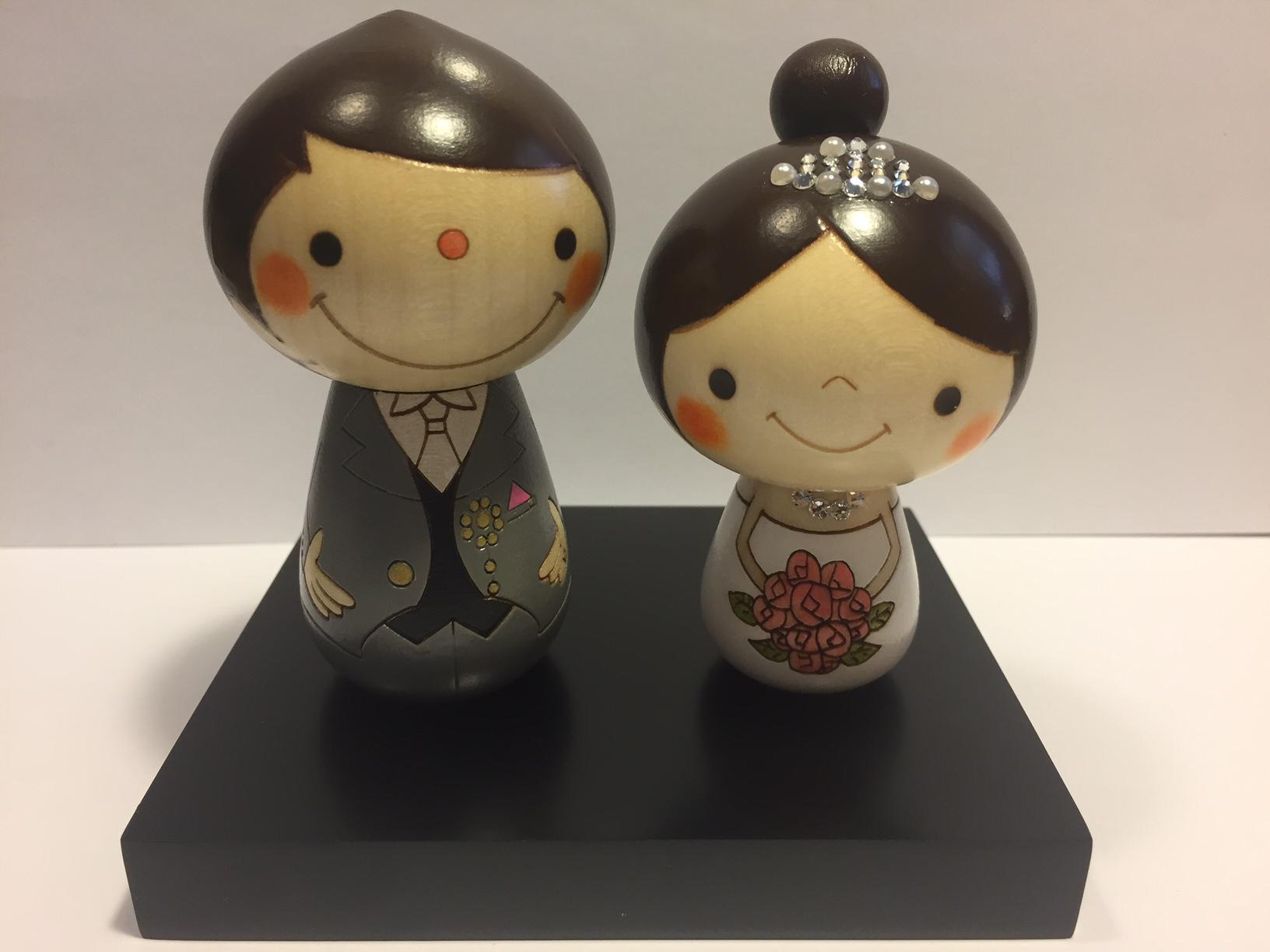 Topper - Cake Kokeshi Sposi 01
