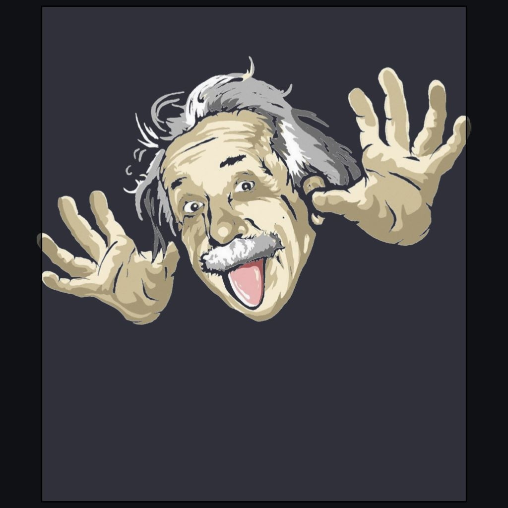 funny albert einstein stick out the tangue