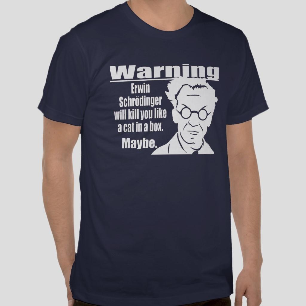 Erwin Schrödinger cats Quantum mechanics funny navy blue t-shirt