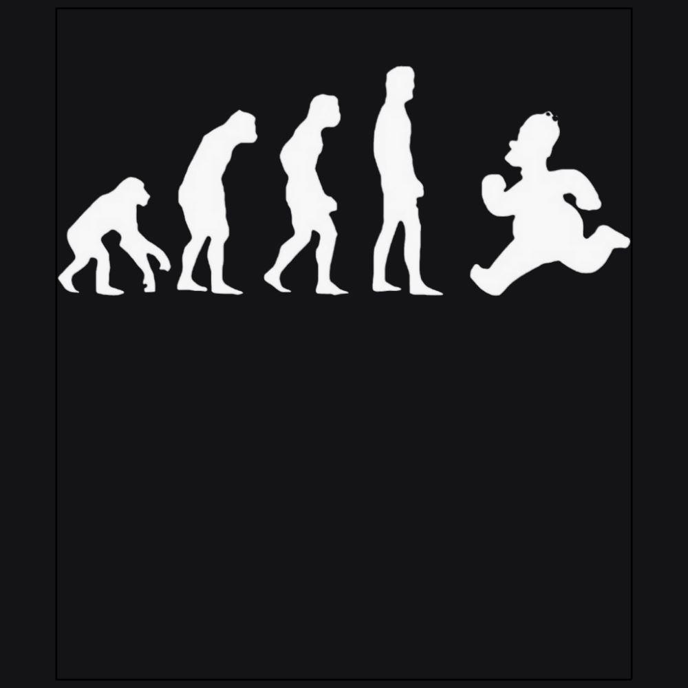 Evolution Backward homer simpson funny black t-shirt