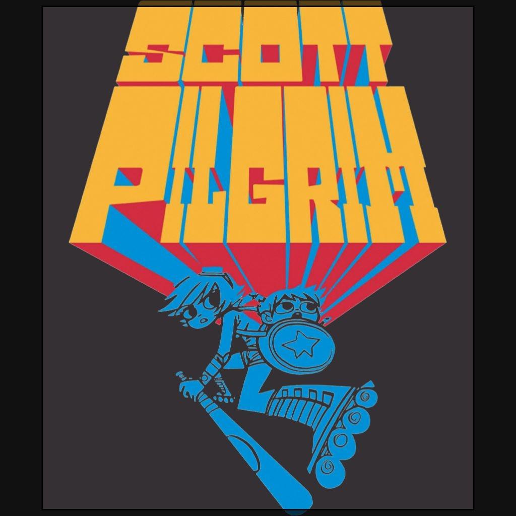 Scott Pilgrim comics black t shirt