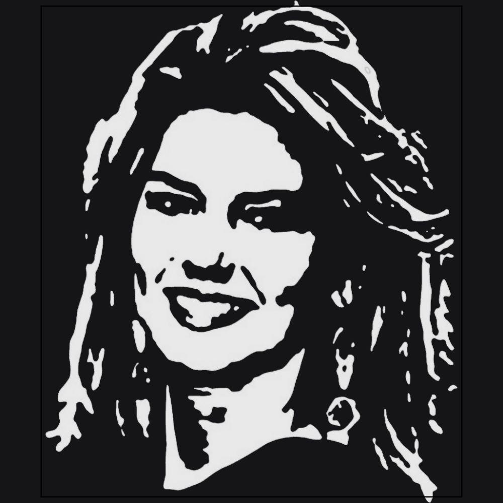 Shania Twain Country music singer musician black t-shirt