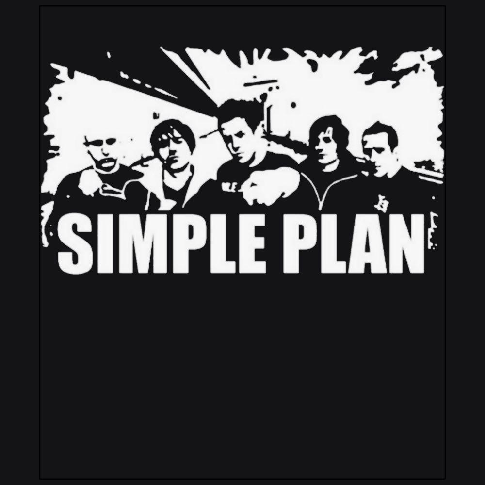 Simple plan rock band member black t-shirt