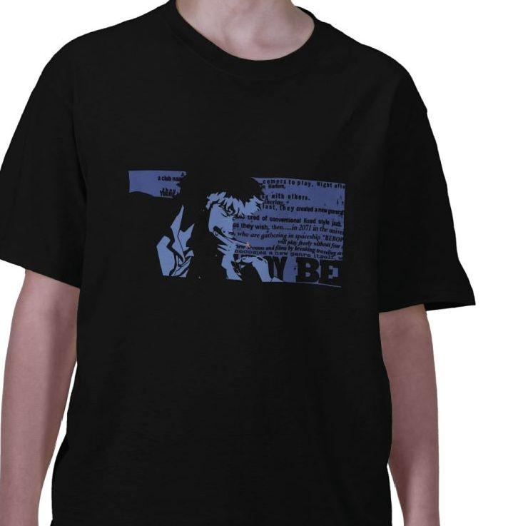 Spike Spiegel Bounty hunter bebop space ship cowboy member crew anime Black t-shirt