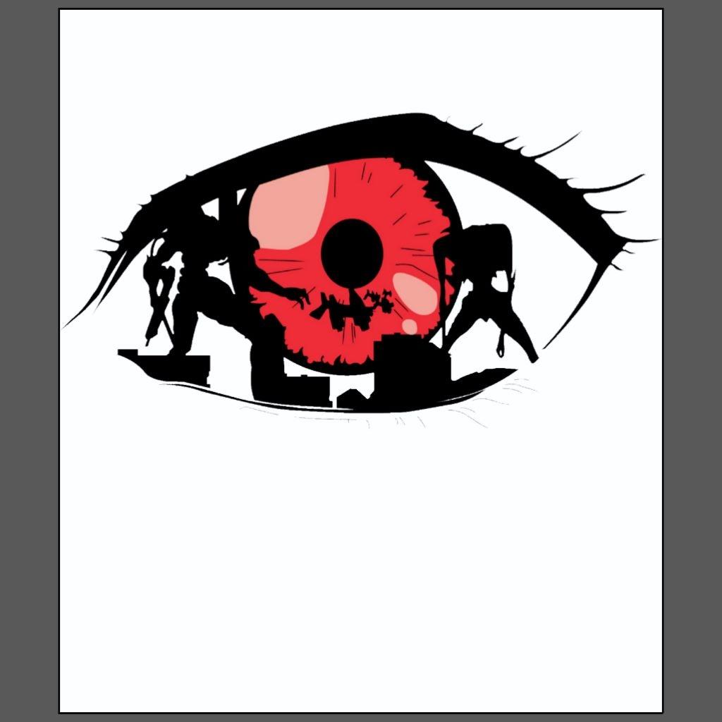 Rei red eye evangelion anime