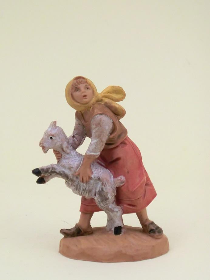 Donna con pecora cm. 6,5