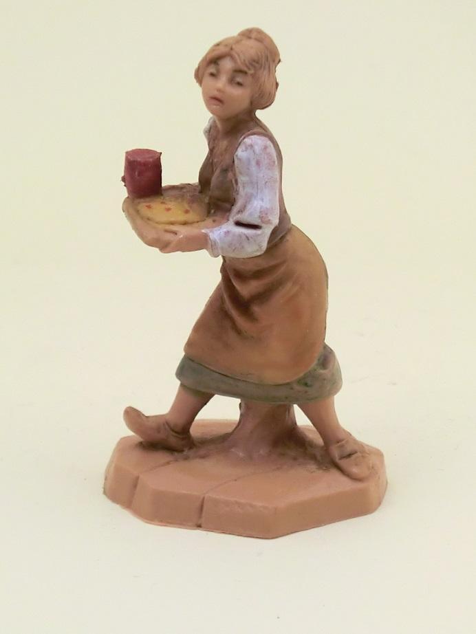 Donna cameriera con vassoio cm. 6,5