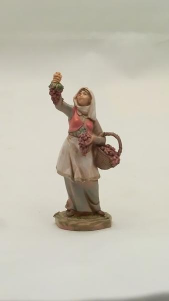 Donna con uva cm. 6,5
