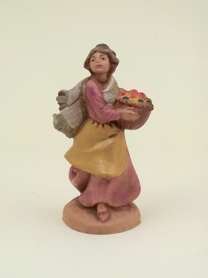 Donna con cesto cm. 6,5